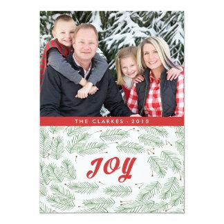 Joy Pine Bows | 2015 Holiday Photo Card 13 Cm X 18 Cm Invitation Card