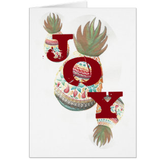 JOY Pineapple Christmas Card