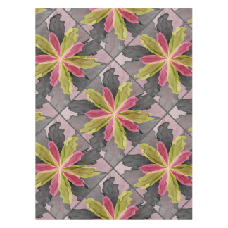 Joy, Pink Green Anthracite Fantasy Flower Fractal Tablecloth