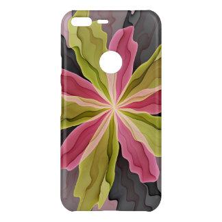 Joy, Pink Green Anthracite Fantasy Flower Fractal Uncommon Google Pixel XL Case