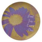 Joy Purple Flower Plate