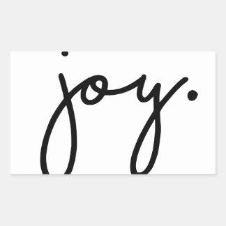 Joy Rectangular Sticker