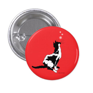 """""""Joy"""" Red Holiday Button"""