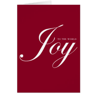 Joy red simple Christmas holiday business logo Greeting Card
