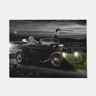 Joy Ride B&W 2 Doormat