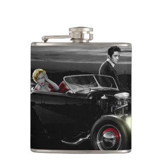Joy Ride B&W 2 Hip Flask
