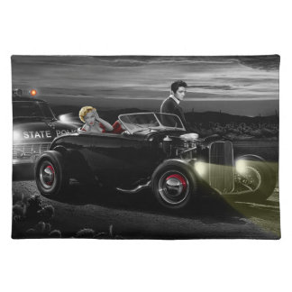 Joy Ride B&W 2 Placemat