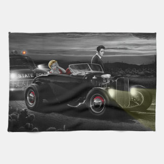 Joy Ride B&W 2 Tea Towel