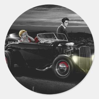 Joy Ride B&W Classic Round Sticker