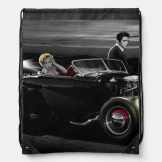 Joy Ride B&W Drawstring Bag
