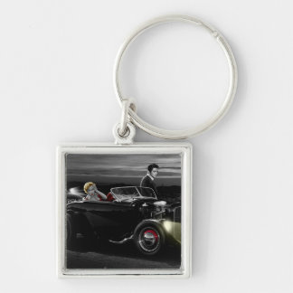 Joy Ride B&W Key Ring