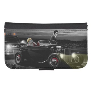 Joy Ride B&W Samsung S4 Wallet Case