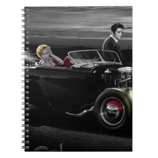 Joy Ride B&W Spiral Notebook
