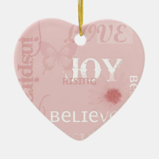 Joy Rising Pink Christmas Ornament