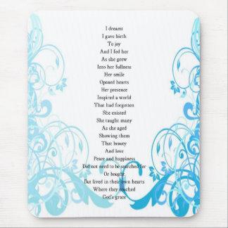 Joy s Birth Poem Mouse Pads