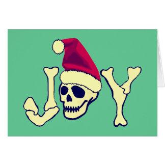 Joy - Santa SKull Card