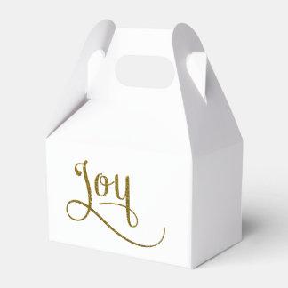 Joy Script Gold Glitter Favour Box