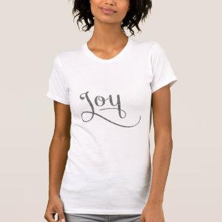Joy Script Silver Glitter Tshirt