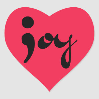 Joy Semicolon Heart Stickers
