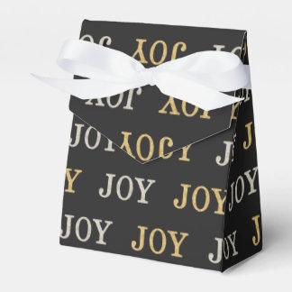 JOY (silver / gold glitter) Favour Boxes