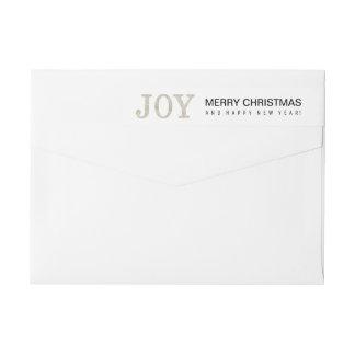 JOY (silver) Wrap Around Label
