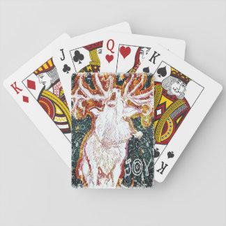 Joy Singing Deer Playing Cards