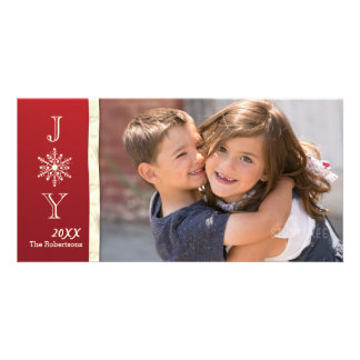 Joy Snowflake Photo Christmas Card