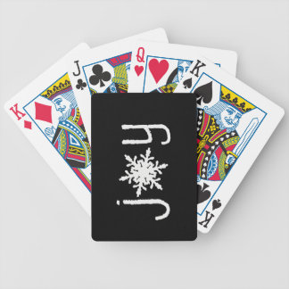 Joy Snowflake Playing Cards