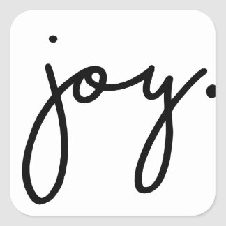 Joy Square Sticker