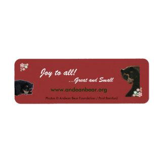 Joy to All from Bubu Return Address Label