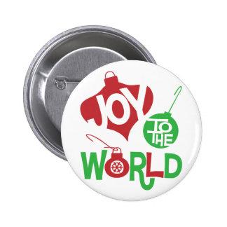 Joy to the World 6 Cm Round Badge