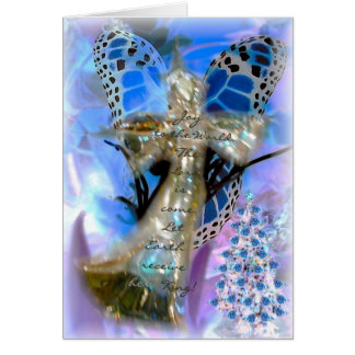 Joy To The World Angel Card