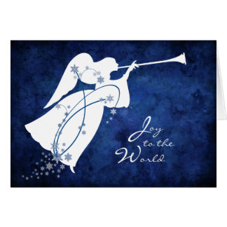Joy to the World Angel Christmas Card