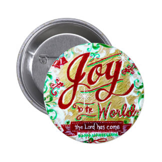 Joy to the World by Jan Marvin Buttons