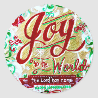 Joy to the World by Jan Marvin Classic Round Sticker