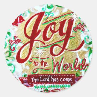 Joy to the World by Jan Marvin Round Sticker