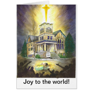 Joy to the world! card