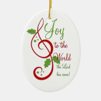Joy to the World Christian Christmas Carol Music Christmas Ornaments