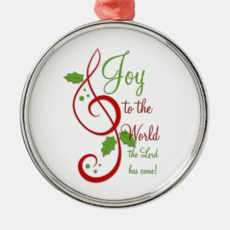 Joy to the World Christian Christmas Carol Music Christmas Ornament