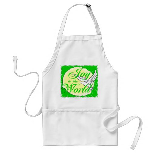 Joy to the World Christmas Apron