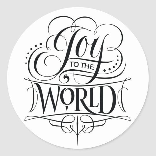 Joy to the World Christmas Calligraphy Lettering Classic