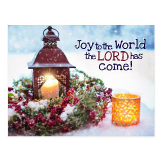 Joy to the World, Christmas Carol Postcard