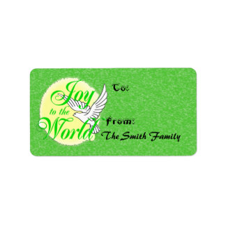Joy to the World Christmas Gift Tags Address Label