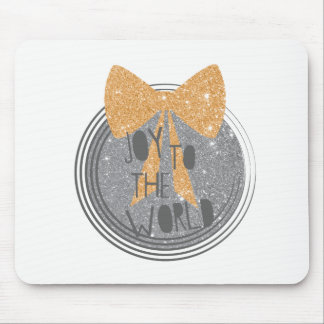 Joy To The World Christmas hymn Mouse Mat
