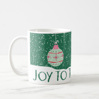 Joy to the World Christmas Ornament Coffee Mug