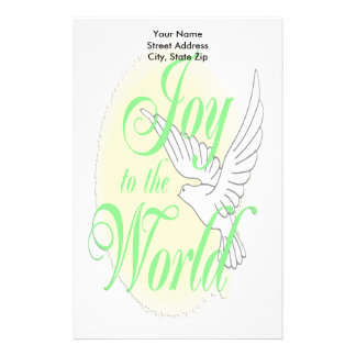 Joy to the World Christmas Stationery