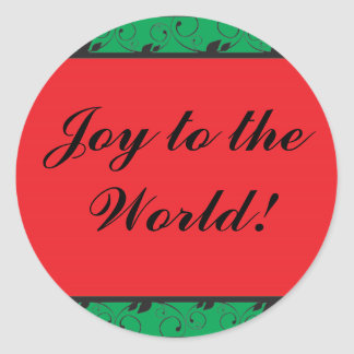 Joy to the World! Classic Round Sticker