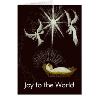 Joy to the World Customizable Christmas Greeting Card