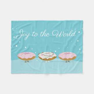 Joy to the World Donuts | Fleece Blanket