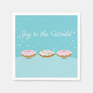 Joy to the World Donuts   Paper Napkins